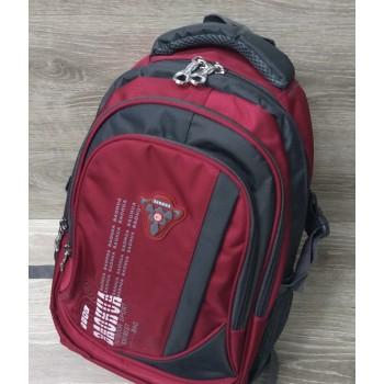Прочный усиленный рюкзак Baohua, цвет бордовый, размер 43#14#28 см