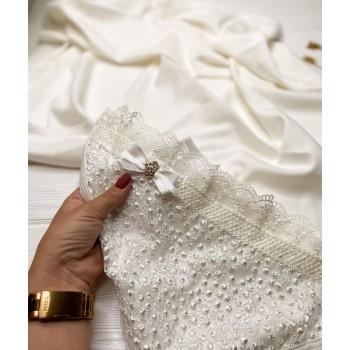 Полотенце для крещения «Ажур», размер 80#90 см, ткань интерлок