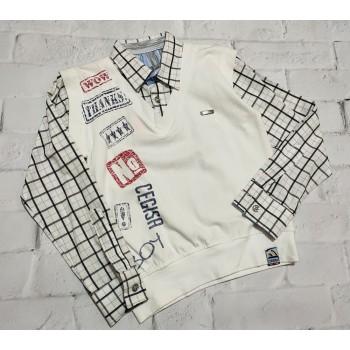 Cegisa Турецкая рубашка-обманка, размер 104 (4 года)