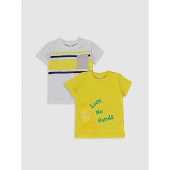 Комплект из двух ярких футболок Waikiki, размер 68/74, полномерит!