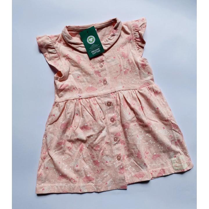 Хлопковые платья на пуговицах So&Cute (Польша), размеры: 74,80,86,98