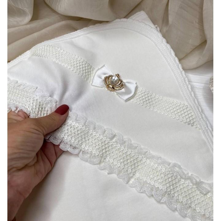 Полотенце для крещения «Прованс», размер 80#90 см, цвет молочный