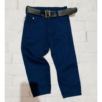 Котоновые синие брюки Wikiland Турция, размер 2 (92 см)