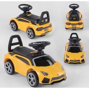 Машина- толокар LB 101 Joy, цвет желтый, русское озвучивание, музыкальный руль, багажник