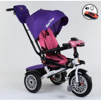Велосипед трехколёсный 9288 В-7598 Best trike. Поворотное сидение , складной руль, русское озвучивание, надувные колёса, пульт включения звука и света