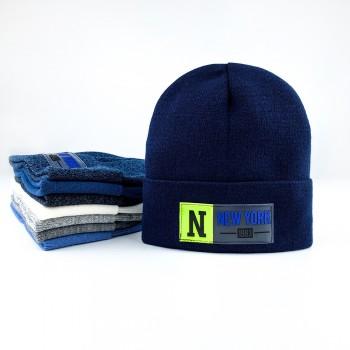 Демисезонная шапка «Джефри»,  объём 48-52 см.  Цвет бордовый, кирпичный, джинсовый меланж.