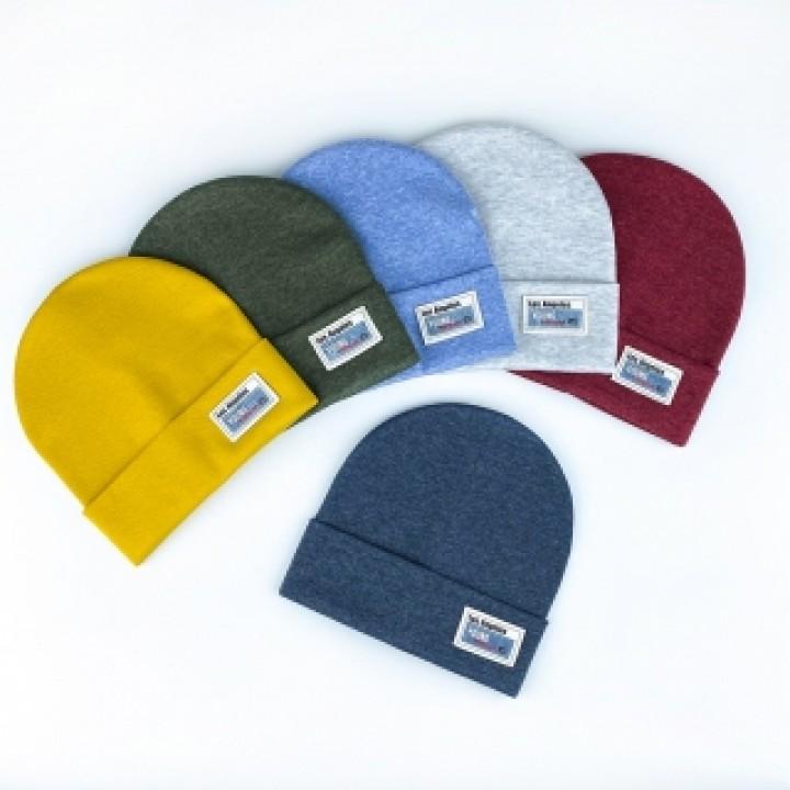Двойная трикотажная шапка «Люи», объём 48-50 см, цвет бордовый меланж
