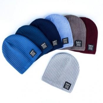 Демисезонная шапка на хлопковой подкладке «Хил», объём 50-52, цвет синий