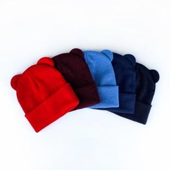 Демисезонная шапочка «Михо» ангора, объём 46-50 см, цвет чёрный
