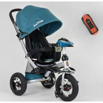 Велосипед 3-х колёсный 5890 / 85-975 Best Trike (1) ФАРА C USB, ПОВОРОТНОЕ СИДЕНИЕ, СКЛАДНОЙ РУЛЬ, Рус.озвучка, НАДУВНЫЕ КОЛЕСА, ПУЛЬТ(свет,звук)