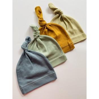 Трикотажные шапочки для малышей, размер 62(0-3 мес), модель «Узелок»