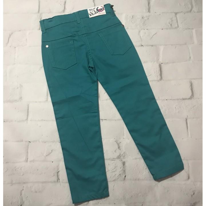 Однотонные джинсы, размер 4-5, рост 110