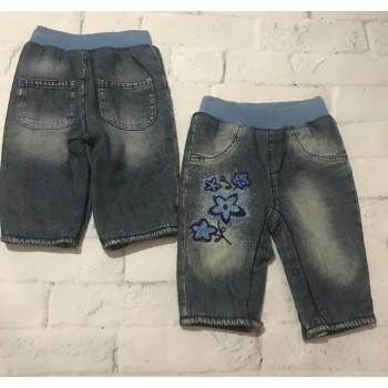 Теплые джинсы на флисе, Глория Джинс. Размер 3-6 мес