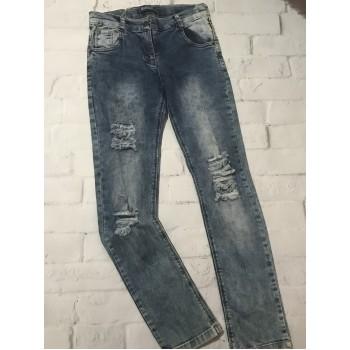 Рваные джинсы, размер 152(10-11 лет). Турция