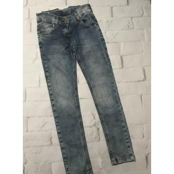 Турецкие джинсы с потертостями, размер 7-8 лет(рост 122-128)