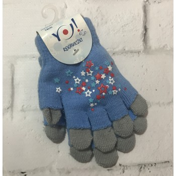 Двойные перчатки для девочки 4-6 лет