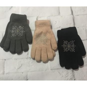 Зимние перчатки для девочки 10-12 лет