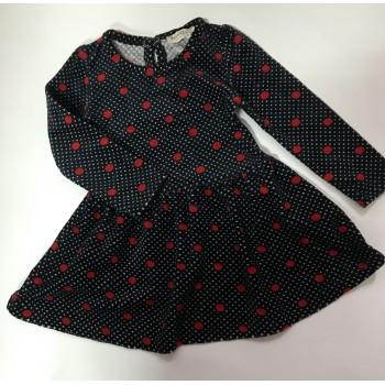Теплое велюровое платье, Турция. Размеры: 86-110