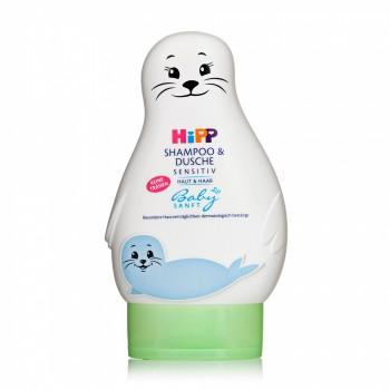 Детский шампунем гель для купания Hipp sensitive, 200 ml