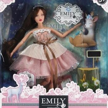 Emili кукла в подарочной коробке, с питомцем