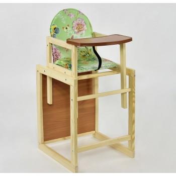 """Деревянный стульчик для кормления  """"Бабочки"""""""