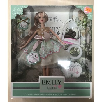 Emili кукла с аксессуарами , в подарочной коробке. Мод.QJ088C
