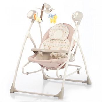 CARRELLO NANY 3 в 1, колыбель-качеля-стульчик для кормления . Цвет бежевый