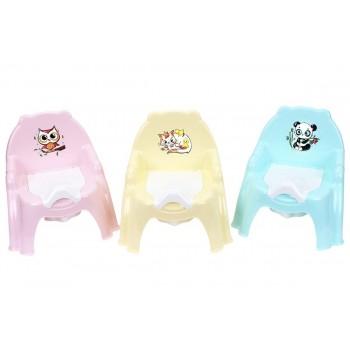 Горшок-стульчик, сидение с крышкой. Плотный пластик