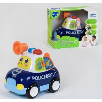 Машина музыкальная «Полиция» 6108(18) световые и звуковые эффекты . На батарейках, в коробке 22#15#17 см