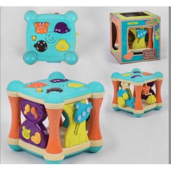Логический куб 9910(18) музыкальный, в коробке 21,5#21,5#22,5 см