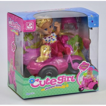Кукла с мотоциклом К 899-15(48/2) в коробке