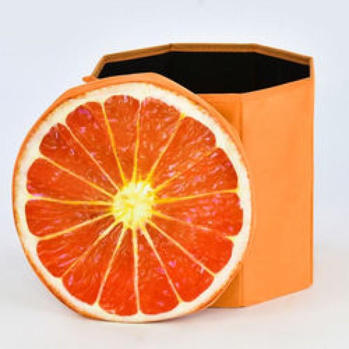 """Пуфик-короб для хранения игрушек """"Апельсин"""""""