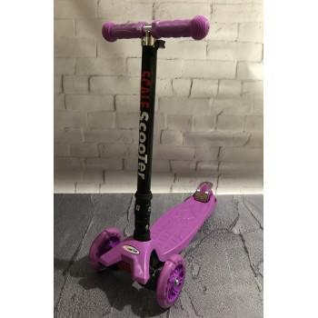 Самокат трехколёсный , фиолетового цвета