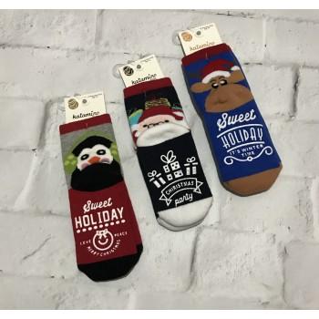 Katamino турецкие махровые новогодние носки, размер 3-4 года. Модель 25023
