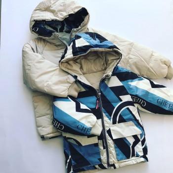 Двусторонняя зимняя курточка, модель унисекс