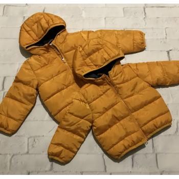 Демисезонные куртки унисекс . Цвет желтый, размеры 74;80;86