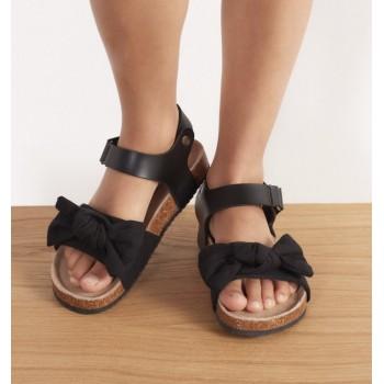 Замшевые сандали на корковой подошве Reserved, Польша. Размер 33 (стелька 21 см)