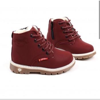 Зимние  ботинки Sport, модель унисекс , ЭКО нубук