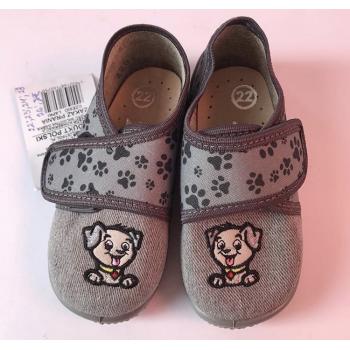 """Текстильный тапочки для для мальчика """"Лапки"""", размер 22.Польша"""