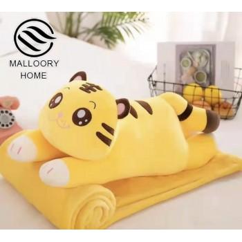 Плед-игрушка Malloory home «Котик», цвет желтый
