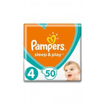 Pampers Sleep&play 4, 50 штук в упаковке, вес 9-14 кг