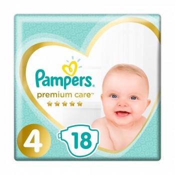 Pampers Premium care 4 (9-14кг), 18штук в  упаковке