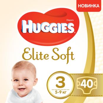 Huggies Elit soft 3 Джамбо 40 штук. 9400875
