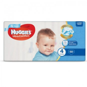 Huggies  Ultra comfort  4,  50 шт. 8-14 кг. For boys