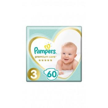 Pampers Premium Care 3 midi (6-10кг), 60 штук в упаковке