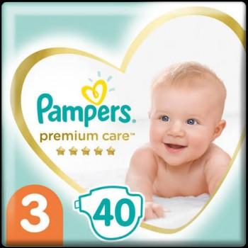 Pampers Premium Care 3 midi  (6-10 кг), 40 штук в упаковке