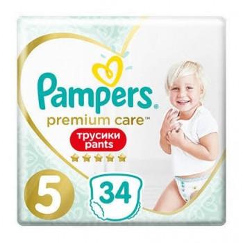Pampers Premium Care Pants 5 (12-17кг), 34 штуки в упаковке