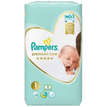 Pampers Premium Care Newborn (2-5 кг), 52 штуки в упаковке