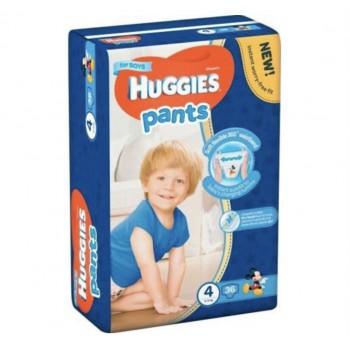 Трусики Huggies 4 (9-14 кг), 36 штук для мальчика