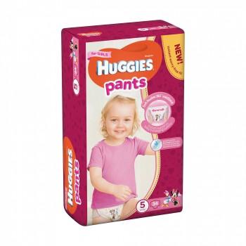 Трусики Huggies 5 (12-17 кг), 34 штуки, для девочек